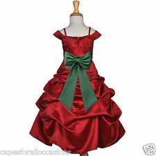 APPLE RED SPAGHETTI STRAP CHRISTMAS PARTY PAGEANT FLOWER GIRL DRESS 4 5 6 7 8 10