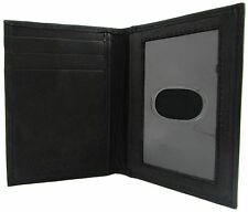 New Paul & Taylor Mens Leather Front Pocket ID Credit Card Holder Wallet