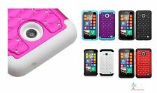 Nokia Lumina 635 Luxurious Total Defense Dual Layer Hybrid Protector Cover Case