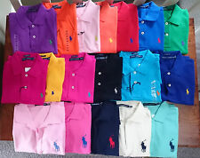 RALPH LAUREN WOMEN GIRL LADIES LUXURY SKINNY SPORT POLO COLLAR SHIRT XS S M L XL