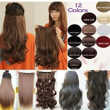 gorgerous all length clip in hair extension 3/4 Full Head straight curly wavy WM