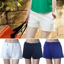 Fashion Women Girls Casual Mid-Waist Candy Color Mini Shorts Hot Pants Size S-XL