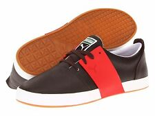PUMA Shoes Mens El Ace 3 Black Coffee Ribbon Red Leather Casual Athletic Sneaker