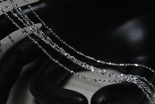 """925 Silver STARRY SKY Chains Necklace 1.4mm Width 16 TO 26"""" Length"""