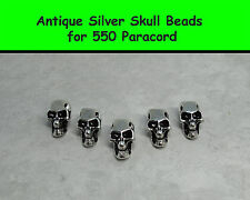 Metal Skull Bead for Paracord Projects - Antique Silver for Lanyards, Bracelets