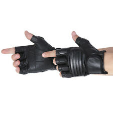 Military Protective Gear Velcro Black Driving Motorcycle Fingerless Gloves