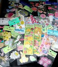 EASTER SPRING STICKERS & EMBELLISHMENTS Scrapbook YOUR CHOICE Paper Craft