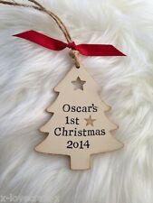 ❤️Quality Personalised Baby's First/1st Christmas Tree Decoration Sign Plaque❤️