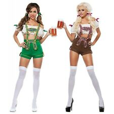 Sexy Beer Girl Costume Adult German Lederhosen Oktoberfest Fancy Dress