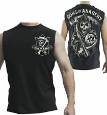 Sons Of Anarchy Samcro Reaper Shield Muscle New Licensed Tank Top Shirt S-3XL