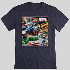 NEW LEGO MARVEL SUPER HEROES MOVIE GAME T-SHIRT - PS3 PS4 XBOX ONE 360 WII U NDS