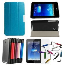 """3Fold PU Leather Stand Case Cover For Asus FonePad 7ME175CG 7""""Tablet Film Stylus"""