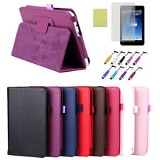"Folio Leather Case Stand Cover + Film & Pen For Asus MeMO Pad HD 7"" ME173 ME173X"