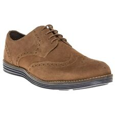 New Mens SOLE Tan Macklin Suede Shoes Brogue Lace Up