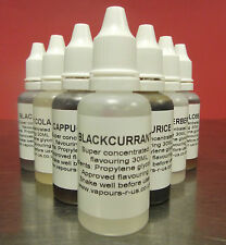 30 ML EXTRA STRONG CONCENTRATED  FLAVOURINGS FOR E LIQUIDS  OVER 155 FLAVOURS