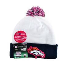 New Era Denver Broncos Beanie NFL Cap Knit Pom Unisex Breast Cancer Football Hat