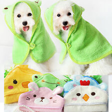 HOT Soft Pet Dog Cartoon Bathrobes Animal Bath Towel Puppy Cats Blanket Pajamas
