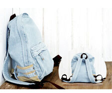 Unique Denim Satchel Backpack Rucksack Shoulder Voguish Travel  Bag Handsome
