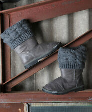 New Womens Superdry Sox Boots Lancaster Black Hide