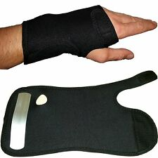 Adjustable wrist support brace strap for carpal tunnel syndrome arthritis pain.