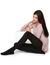 Silky 200 Denier Fleece Tights,Thick Warm Fleece Tights, Opaque Pantyhose