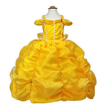 Disney Princess Belle inspired costume Beauty and the Beast Deluxe Dress Cosplay