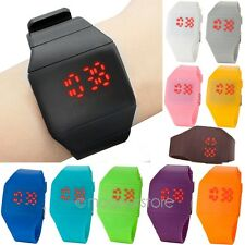 Unisex Boys Girls Touch Screen Digital LED Silicone Sports Casual Wrist Watch RO