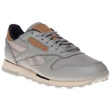 New Mens Reebok Grey Classic Leather Utility Trainers Retro Lace Up 5a04044c0