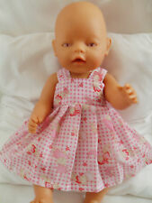 PINNY DRESS DOLLS CLOTHES FIT BABY BORN 43CM OR SIMILAR