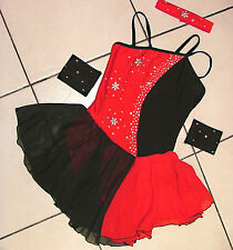 STONED LEOTARD COSTUME,FREESTYLE DISCO MODERN TAP JAZZ LATIN AGE 6 TO ADULT 12