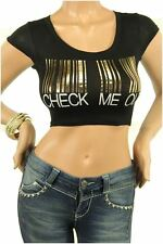 121AVENUE Beautiful CHECK ME OUT Decal Top S M L Small Medium Large Women