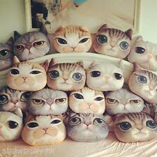 Plush Cat Faces Toy Home Decoration Car Sofa Chair Back Cushion Sleeping Pillow