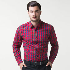 New Shirts Collection Top Designer Mens Slim Fit Dress Casual Shirts Polo 4 Size