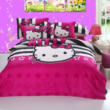 Hello Kitty Twin & Queen Size Bedding Set Fitted Sheet Duvet Cover Pillowcases