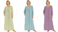 USA Catalog  Soft & Comfy Floral Flannel Roomy Fit Cotton Woven Long Nightgown