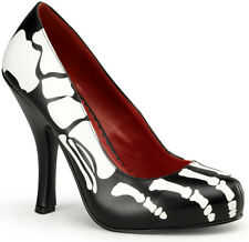 Skeleton Female Adult Womens Halloween Shoes Fancy Dress Costume Accessory,