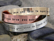 Beatles song lyric bracelet - and in the end the love you take is equal....
