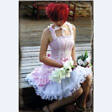 KP1 LOLITA gothic COSPLAY PINK DRESS ONE PIECE