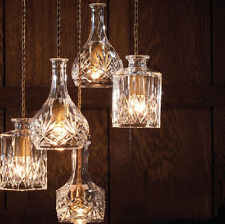 Classic Bottle Design Ceiling Lamp Light Glass Pendant Lighting Bulb Chandeliers