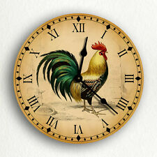 "Rooster Traditional Kitchen Motif 6""-10""-12"" Silent Wall Clock"