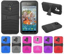 HEAVY DUTY RUBBER SKIN + HARD CASE FOR Kyocera Hydro Vibe C6725 cell phone