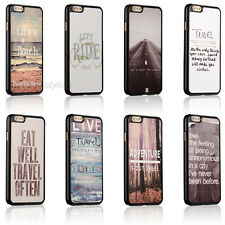 New Life Travel Quote Hard Back Cover Skin Case For Apple iphone 4 4s 5 5c 5s SE
