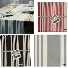 Tracie Ellis Aura Annique Natural Table Runner Placemat Napkin - Red Grey Black