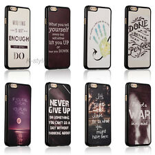 New Love Life Inspirational Quotes Hard Back Cover Skin Case For iPhone 6 6 Plus