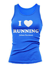 I LOVE RUNNING -  Jersey OR Racerback S-2XL Crossfit Yoga 10 colors 3 inks