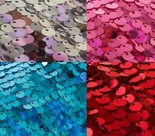 MAT6 Frozen Elsa 9mm Sequins Fabric 140CM Wide stretch mermaid WEDDING BACKDROP
