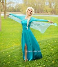 J797 NWT Movies Frozen Snow Queen Elsa Cosplay Costume Dress tailor made
