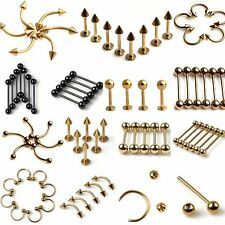 Wholesale Lots 10pcs Mixed Tongue Belly Lip Barbell Rings Piercing Body Jewelry