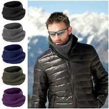 Mens Womens Ladies Snood Chunky Knit Knitted Super Soft Neck Warmer Ski Scarf
