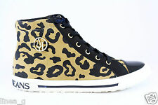 ARMANI JEANS spotted sneakers F/W 15 scarpe alte maculate A/Inverno 2015